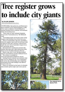 News Article : Toowoomba Chronicle