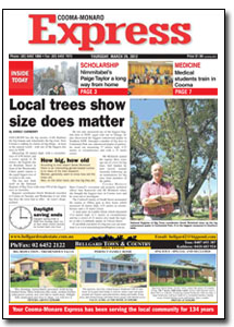 News Article : Cooma-Monaro Express