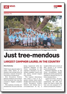 News Article : Hornsby Advocate
