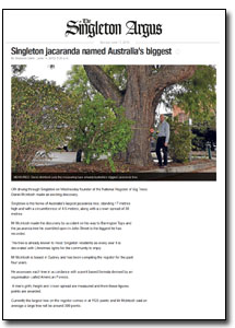News Article : The Singleton Argus